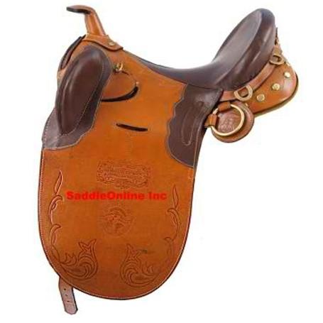 NEW 17 18 TAN AUSTRALIAN AUSSIE HORSE STOCK SADDLE