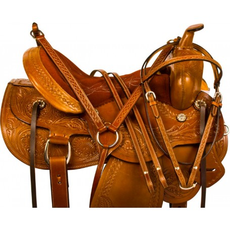 Western Pleasure Trail Endurance Horse Saddle Tack 15 17