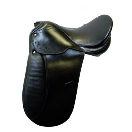 New 17 Dressage English Riding Saddle Wide Tree