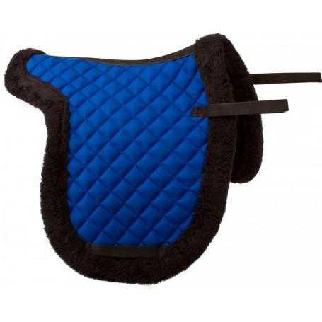Blue Fleece Shaped All Purpose English Horse Saddle Pad