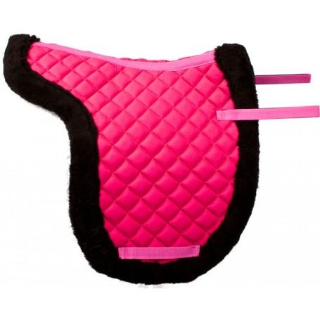 Pink Shaped All Purpose Black Fleece English Horse Saddle Pad