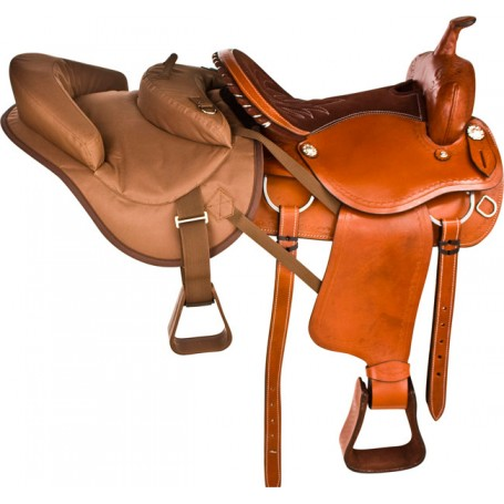 Brown Buddy Seat Tandem Horse Kids Youth Saddle Tack
