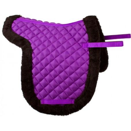 Purple All Purpose Fleece Shaped English Horse Saddle Pad