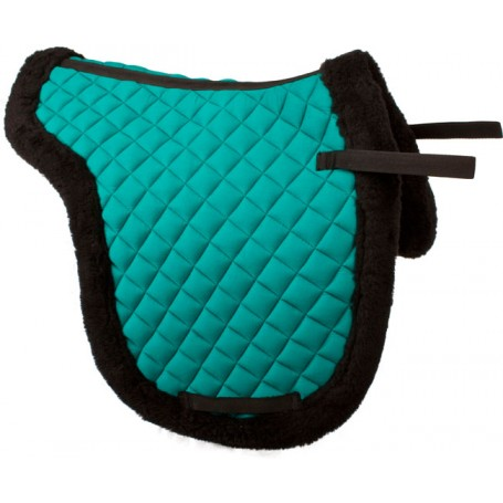 Mint Green All Purpose Fleece Shaped English Horse Saddle Pad