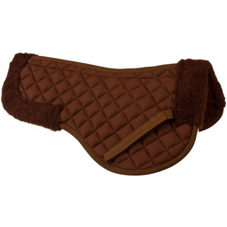 Brown English All Purpose Fleece Horse Saddle Wither Half Pad