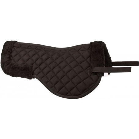 Black English All Purpose Fleece Horse Saddle Wither Half Pad