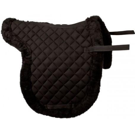 Black All Purpose Fleece Shaped English Horse Saddle Pad