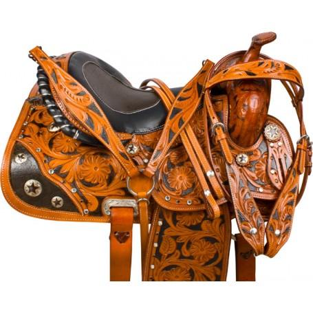 Blingy Gator Western Barrel Racing Horse Saddle Tack 15 16
