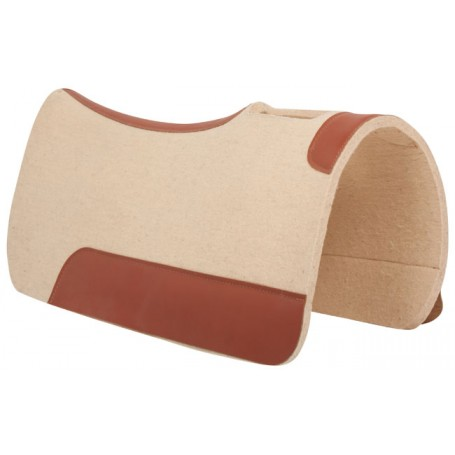 Natural Wool Felt Contour Therapeutic Western Saddle Pad