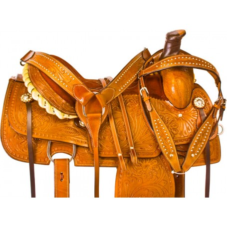 Chestnut Western Roping Ranch Work Horse Saddle Tack 16