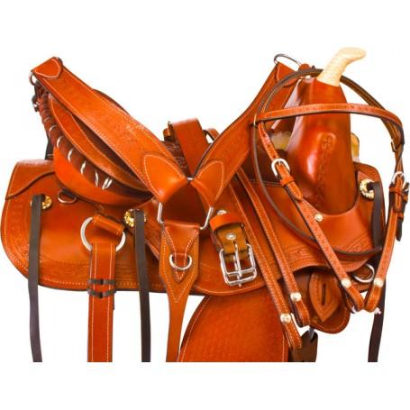 Western Barrel Racing Treeless Horse Saddle Tack 15 16