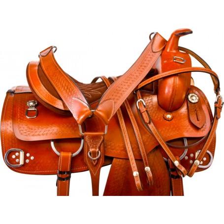 Chestnut Training Western Trail Horse Saddle Tack 16