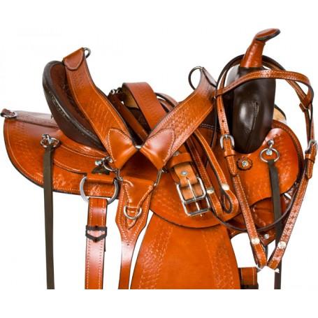 Gaited Brown Endurance Trail Western Horse Saddle 17