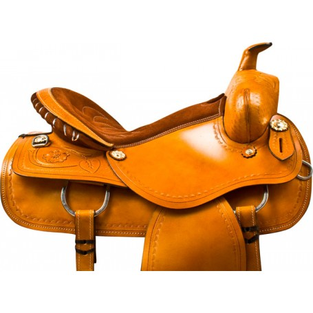 Chestnut Draft Horse Western Pleasure Saddle Tack 16