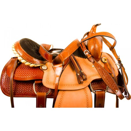 Ranch Work Pleasure Trail Western Horse Saddle Tack 15