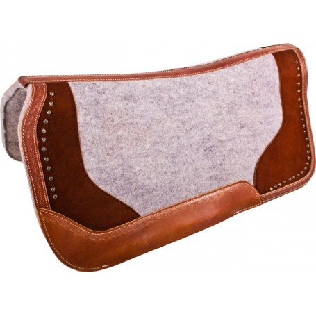Brown Gray Therapeutic Contour Felt Western Saddle Pad