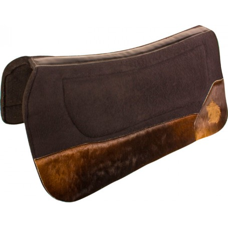 Hair On Hide Black Felt Contour Western Show Saddle Pad