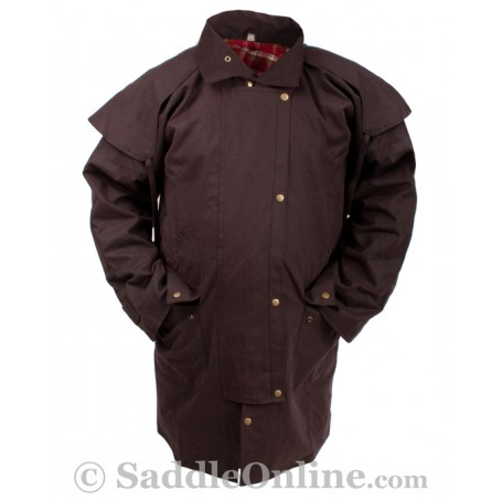 New Men Womens Oilskin Duster Coat S