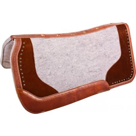 Grey Brown Felt Contour Show Roping Western Saddle Pad
