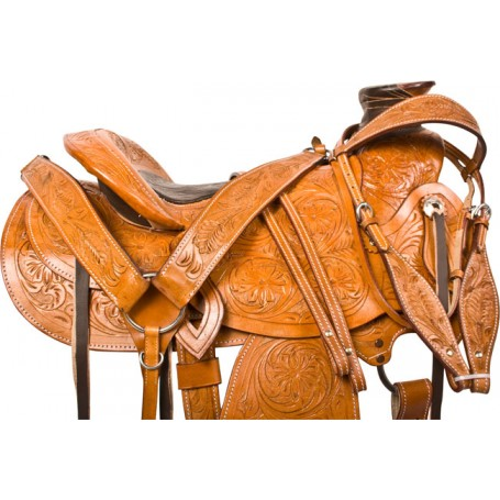 Ranch Work A Fork Roping Western Horse Saddle Tack 16