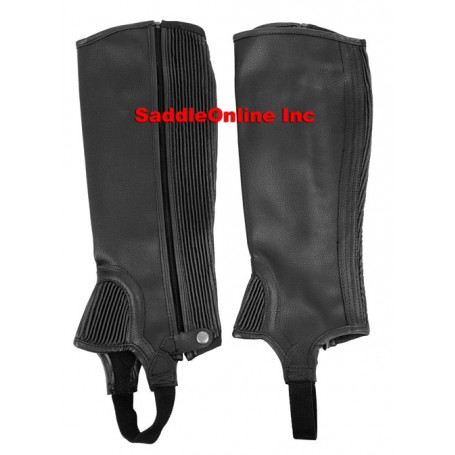 NEW BLACK HORSE RIDING HALF CHAPS ADULT