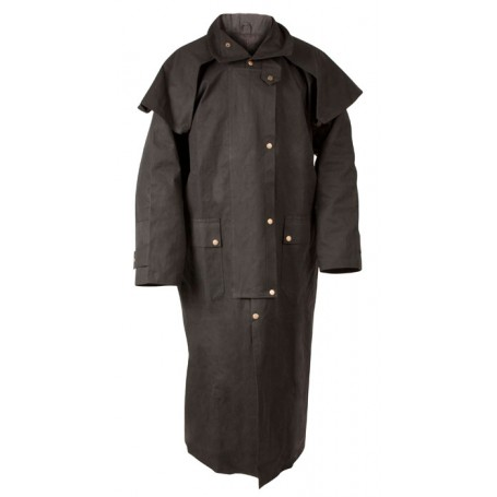 Black Full Length Mens Australian Duster Coat S 2XL