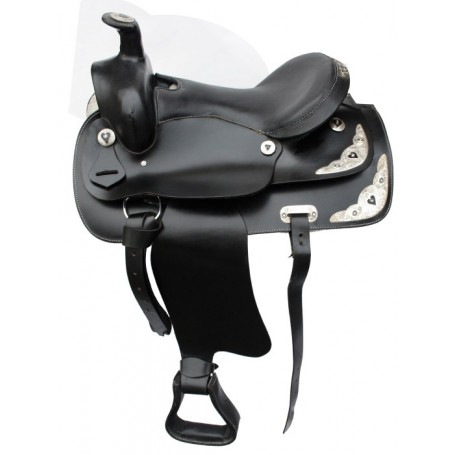 New Beautiful 16 Royal Black Show Western Horse Saddle With Silv