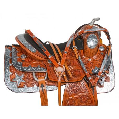 Silver Star Premium Western Horse Show Saddle Tack 16