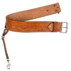 Chestnut Tooled Rear Flank Western Horse Back Cinch Girth