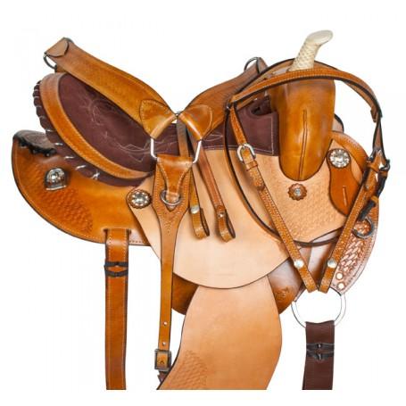 Round Skirt Barrel Racer Western Horse Saddle Tack 15