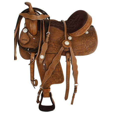 Dark Oil Barrel Racing Western Saddle W Tack 15 16 17 18