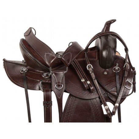 Comfy Pleasure Trail Endurance Mule Saddle Tack 16 17