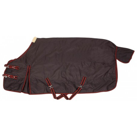 Black Red Turnout Waterproof Winter Horse Blanket 82""