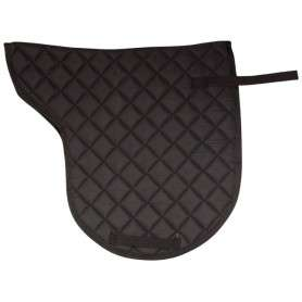 Black All Purpose Shaped English Horse Saddle Pad