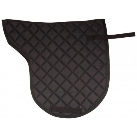 Black All Purpose Shaped English Horse Saddle Pad