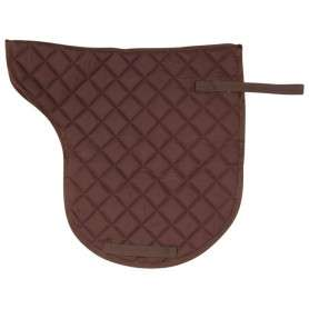 Brown All Purpose Shaped English Horse Saddle Pad