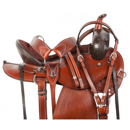 Gaited Western Pleasure Trail Horse Saddle Tack 16 17