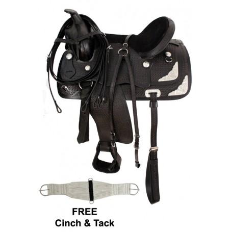 15 18 Fully Tooled Royal Black Show Saddle Tack