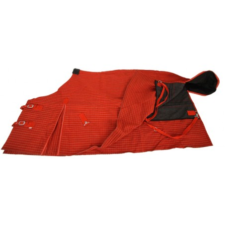 Heavy Red Canvas Winter Blanket Sizes 84