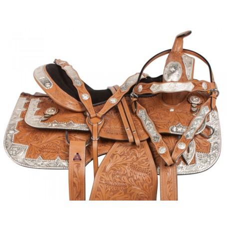 Light Oil Western Pleasure Show Horse Saddle Tack 16