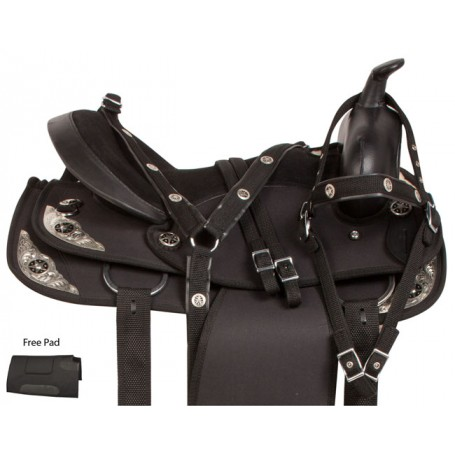 Black Western Synthetic Trail Horse Saddle Tack Pad 14 18