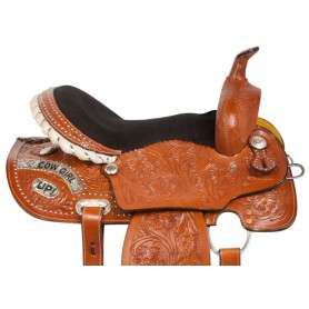 Cowgirl Up Barrel Racing Western Horse Saddle 14