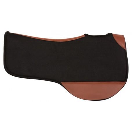 Black Felt Contoured Shaped Western Horse Saddle Pad