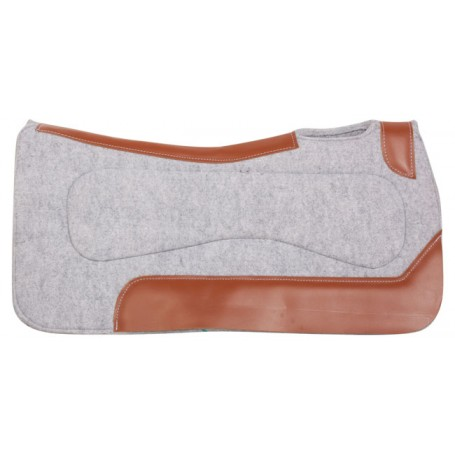 Light Grey Therapeutic Wool Felt Western Horse Saddle Pad