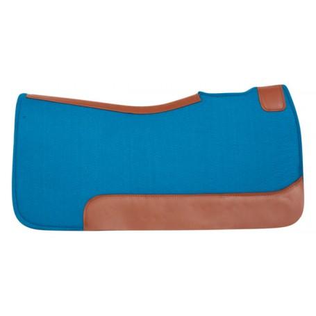Blue Felt Pleasure Trail Therapeutic Western Horse Saddle Pad