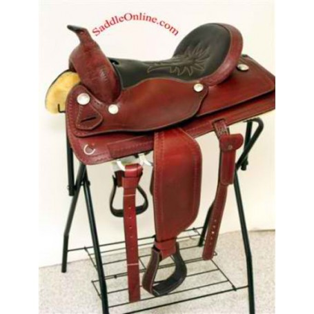 16 17 NEW ALL LEATHER HORSE SADDLE WITH TACK
