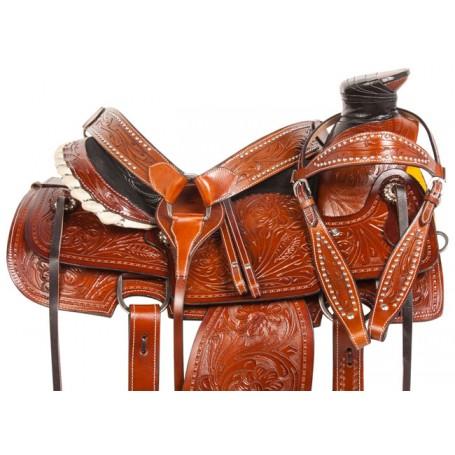 Pro Series Ranch Roping Western Horse Saddle Tack 15 18