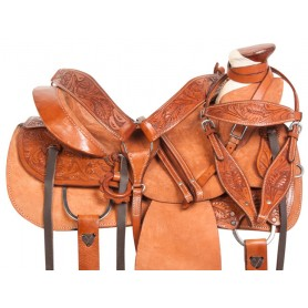 Rough Out Wade Tree Roping Ranch Horse Saddle Tack 15