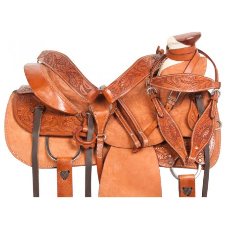 Rough Out Wade Tree Roping Ranch Horse Saddle Tack 15 18