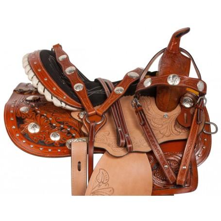 Beautiful Crystal Western Show Horse Saddle Tack 14 15